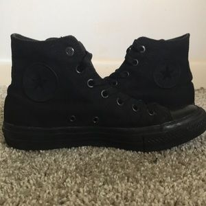 Black High Top Converse (size 8)